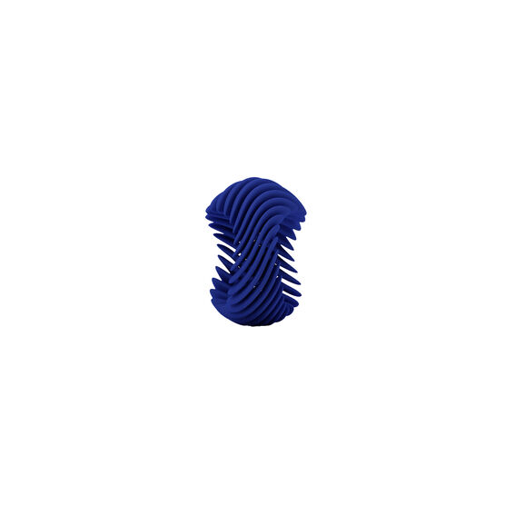 Blue 3d printed ring