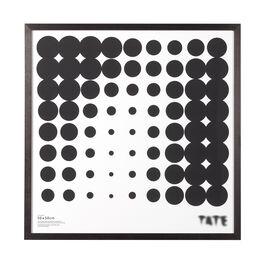 50 x 50 cm square dark ash frame