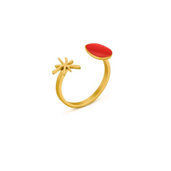 Joan Miró red star ring