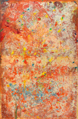 Frank Bowling: Orange Balloon