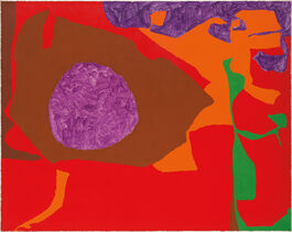Patrick Heron: Scribbled Violet Disc in Venetian with Reds and Emerald