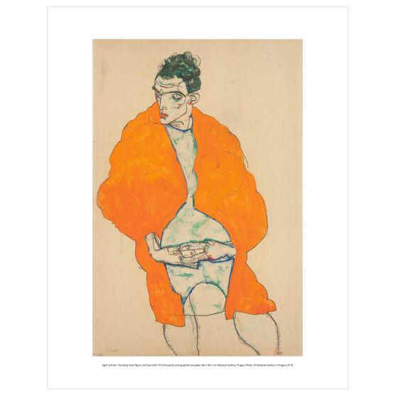 Egon Schiele: Standing Male Figure (self-portrait) mini print