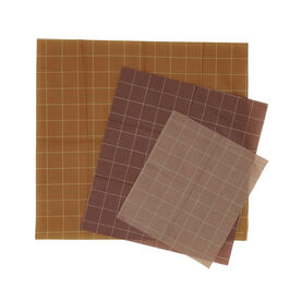Warm tone gridded beeswax wraps