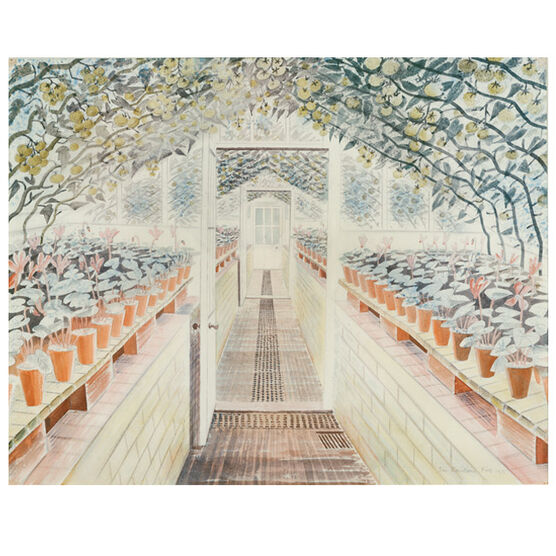 Ravilious The Greenhouse: Cyclamen and Tomatoes (unframed print)