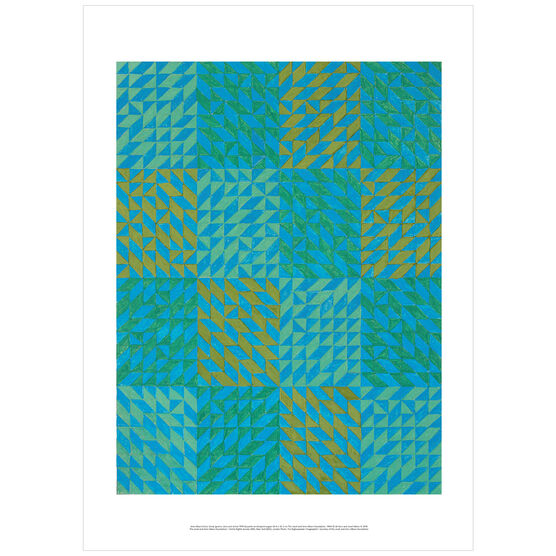 Anni Albers: Colour Study (greens, blue and ochre) poster