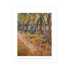 Vincent van Gogh:  Garden of Saint-Paul Hospital with Figure mini print