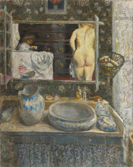 Pierre Bonnard: Mirror Above a Washstand