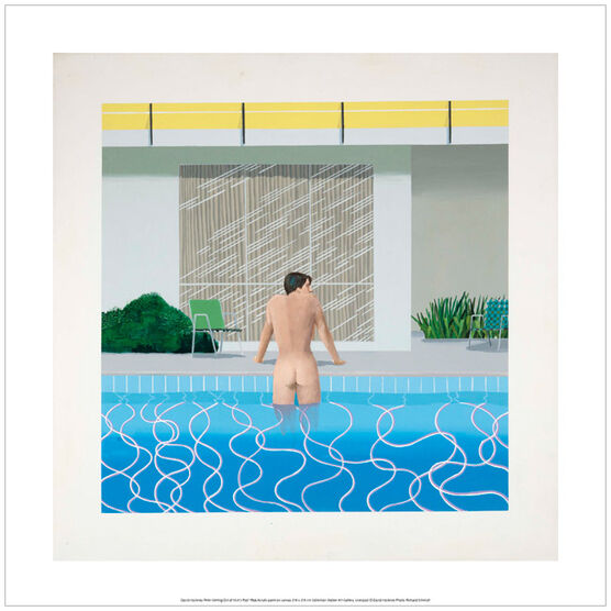 David Hockney Peter getting Out of Nick's Pool (poster)
