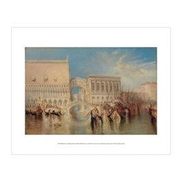 J.M.W. Turner: Venice, Bridge of Sighs exhibition mini print