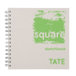 Green hardback square sketchbook