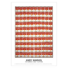Andy Warhol: 100 Campbell's Soup Cans exhibition poster
