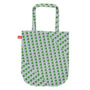 Laura Spring Geometric purple and green tote bag