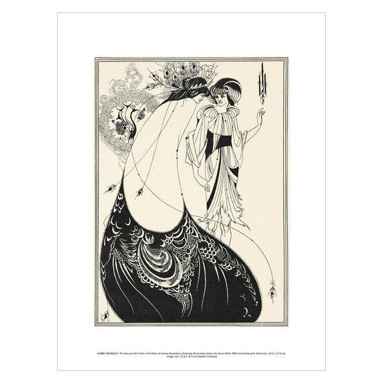 Aubrey Beardsley: The Peacock Skirt exhibition print