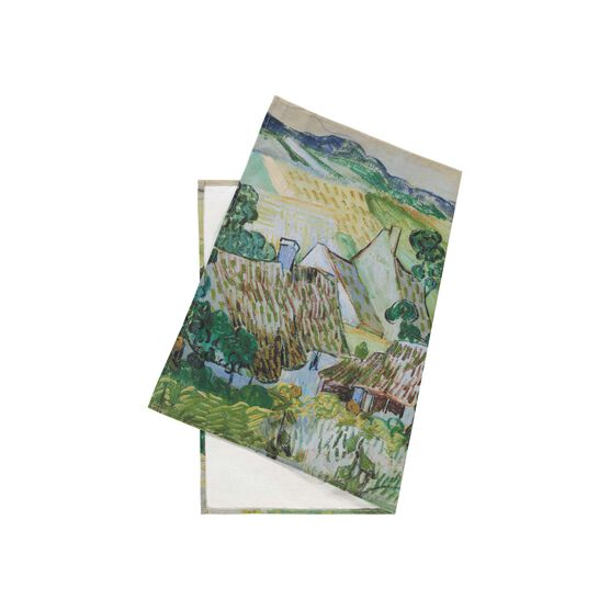 Van Gogh Farms near Auvers tea towel