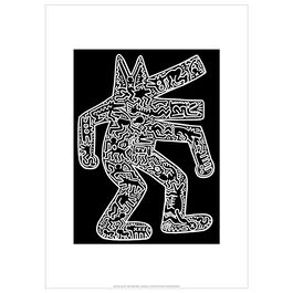 Keith Haring: Dog on Black exhibition poster