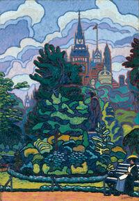 Charles Ginner: Victoria Embankment Gardens