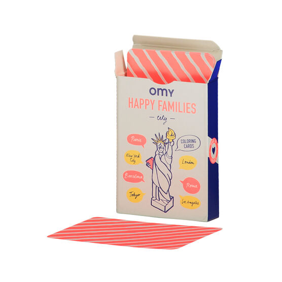 City Happy Families card game