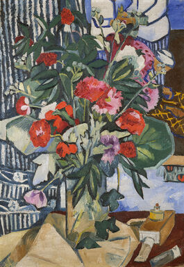 Goncharova: Bunch of Flowers and a Bottle of Paints