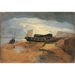 Cotman: Seashore with Boats