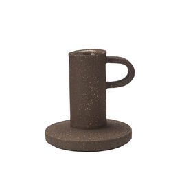 Soil candle holder with handle