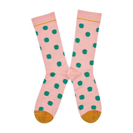 Bonne Maison pink polka dot socks