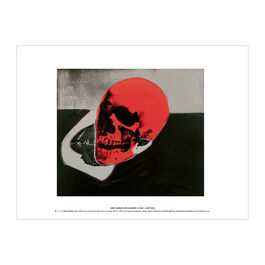 Andy Warhol: Skull (red) exhibition print