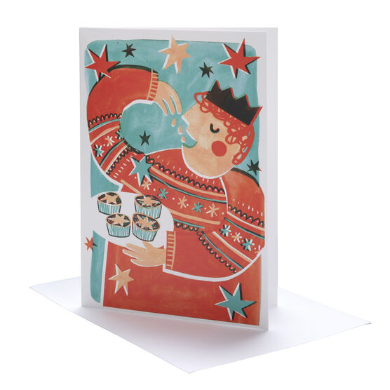 Gracie Dahl Mince Pie Man Christmas cards (pack of 6)