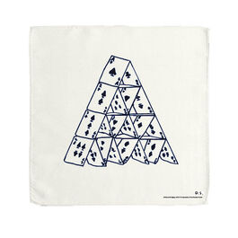 David Shrigley House of Cards handkerchief