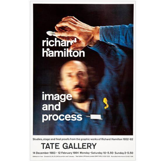 Richard Hamilton: Image and Process 1983 vintage poster