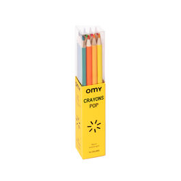 Box of 16 pop coloured pencils