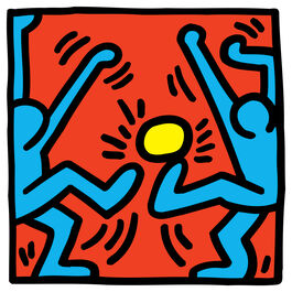 Keith Haring: Untitled (Blue Footballers, Yellow Ball)