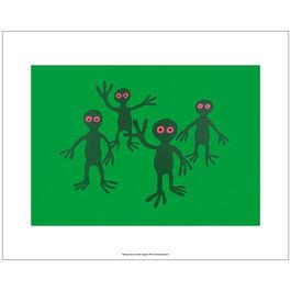Monro Green Figures (unframed print)