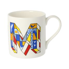 Alphabet of art mug - M
