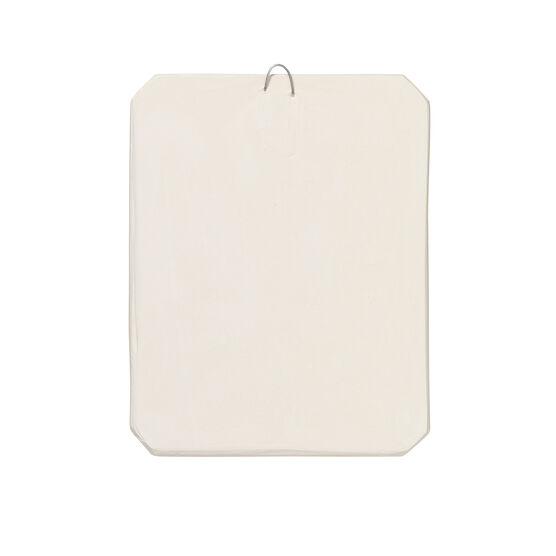Decorative leaf plaster cast plaque