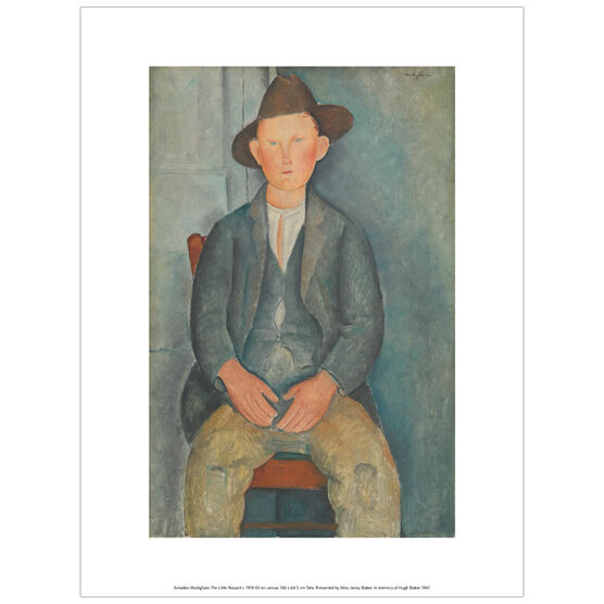 Modigliani The Little Peasant (exhibition print)