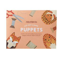 Cut out & make British animal puppets sewing kit