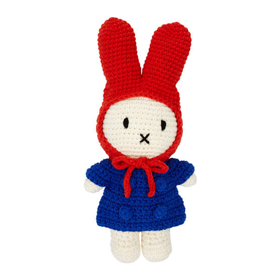 Miffy crochet toy with red hat