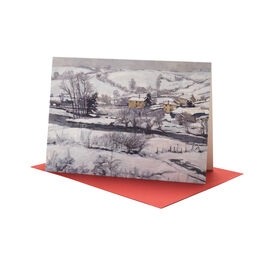 John. A. Park: Snow Falls on Exmoor Christmas card (pack of 10)