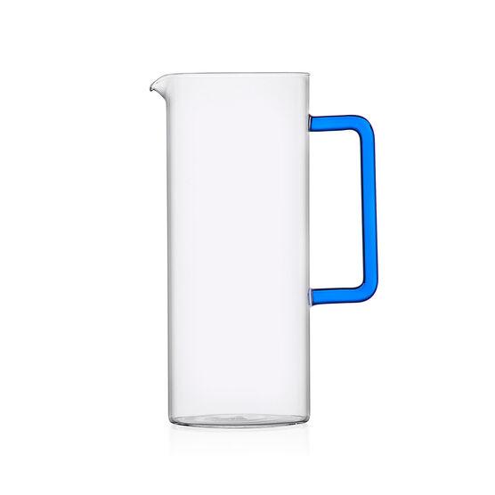 Tube jug with blue handle
