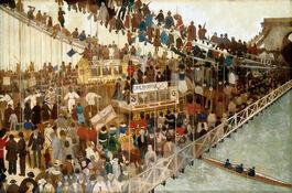 Walter Greaves: Hammersmith Bridge on Boat-race Day