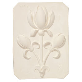 Decorative tulip plaster cast plaque