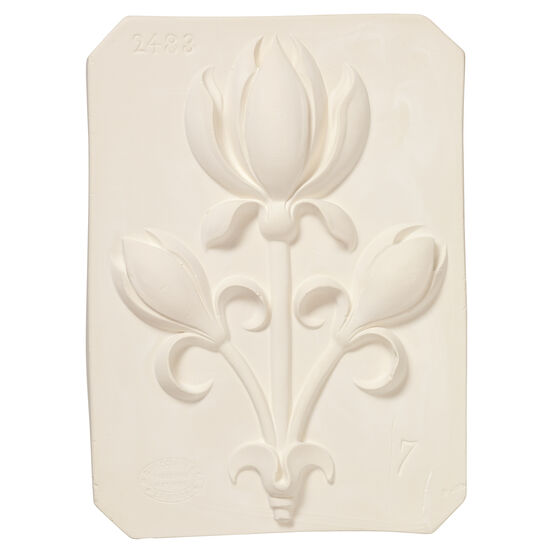 Decorative tulip plaster cast plaque
