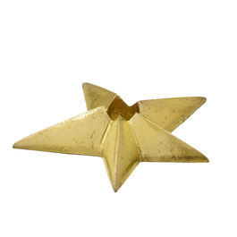 Gold star candle holder