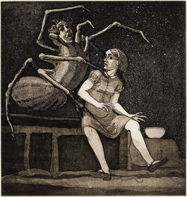 Paula Rego: Little Miss Muffet, from the series 'Nursery Rhymes'