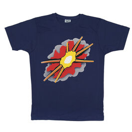 Explosion navy t-shirt
