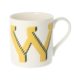Alphabet of art mug - W