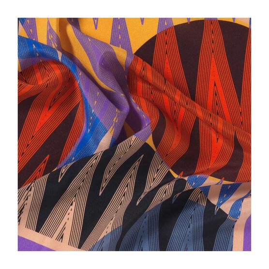 1989 prints silk neck scarf detail