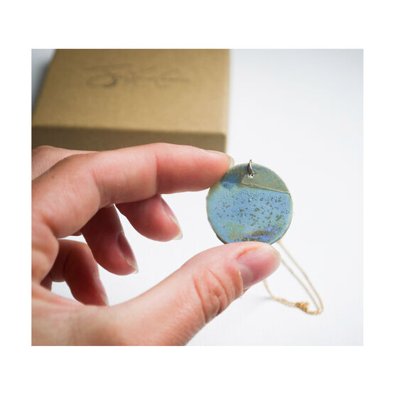 Seascape ceramic necklace