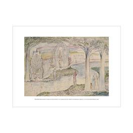 William Blake Matilda and Dante on the Banks of the Lethe exhibition print