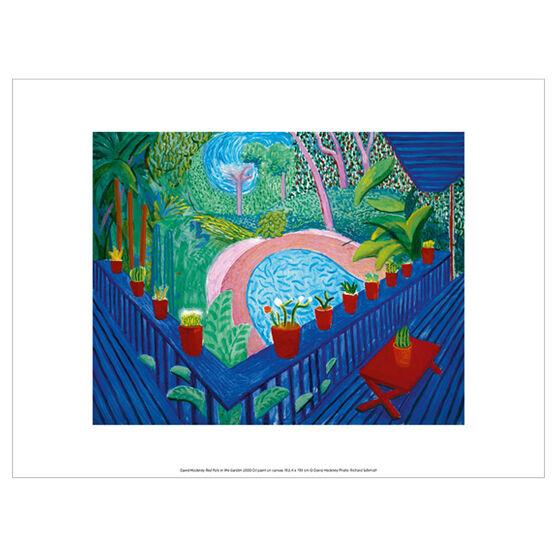 David Hockney Red Pots in the Garden (exhibition print)
